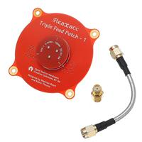 Realacc Triple Feed Patch-1 5.8G 9.4dBi (red) RHCP/LHCP FPV Pagoda Antenna SMA+RP-SMA [1195261-r]