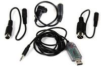 SIM DYU-1005 Dynam USB Simulator Cable Set Include Futaba Square Adaptor