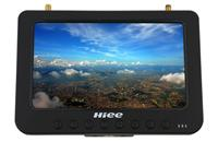 "HIEE HDRM808 FPV 7"" HD 1024*600 LCD Monitor, 5.8GHz 40CH Divercity Receiver, w/Battery"
