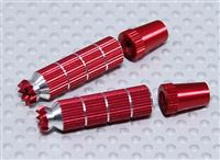 Alloy Anti-Slip TX Control Sticks Long 41.5mm (JR TX Red) [9171000056/23765]